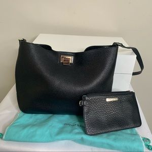 Tiffany & Co. Leather Shoulder Bag with Pouch